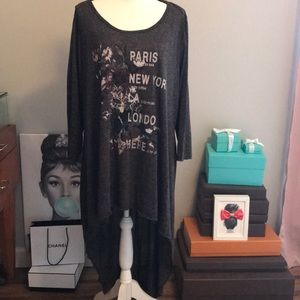 High Low grey top 18/20W